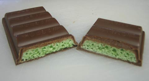 Nestle Mint Aero cross section