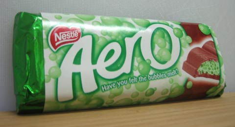 Nestle Mint Aero wrapper