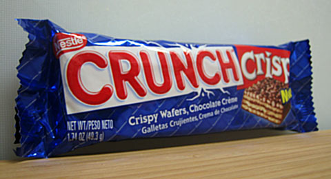 Nestle Crunch Crisp wrapper