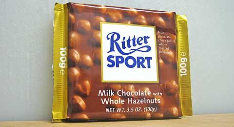 Ritter Sport Milk Chocolate Hazelnut wrapper
